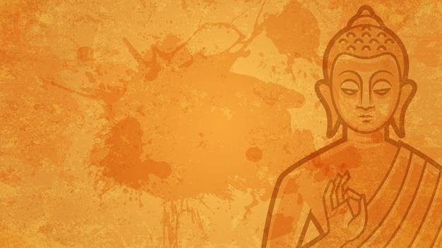 Fond d'illustration bouddha médite, format eps 10