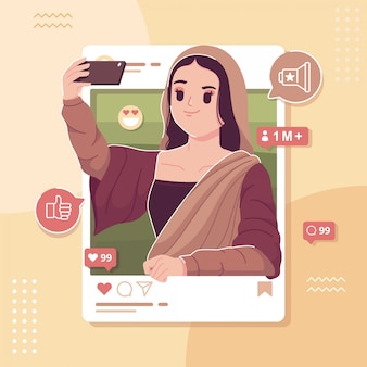 Fond d'illustration entrepreneur de médias sociaux