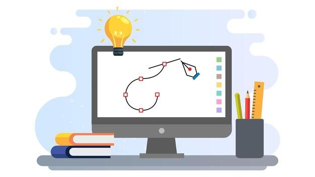 Fond d'illustration de la journée internationale du design