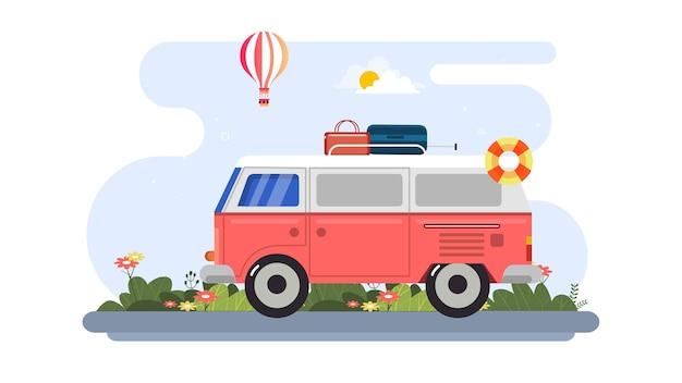 Fond d'illustration de la journée mondiale du tourisme