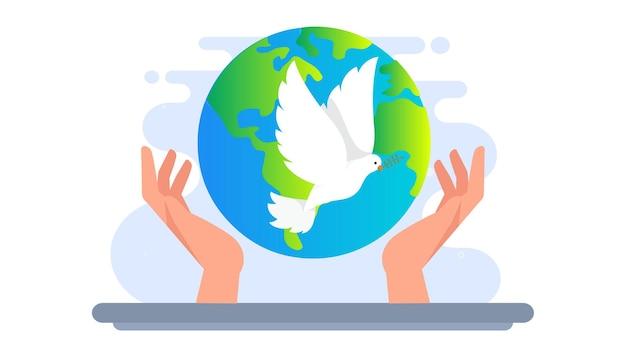 Fond d'illustration de la journée mondiale de la paix