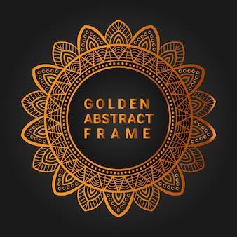 Fond d'illustration de mandala ornemental de luxe dans la conception de mandala de cadre de mandala de couleur bronze
