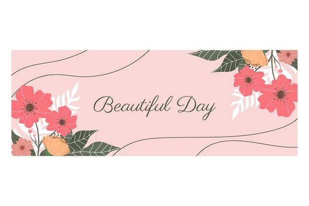 Fond illustration avec thème floral