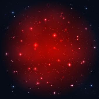 Fond d'illustration vectorielle de ciel étoilé