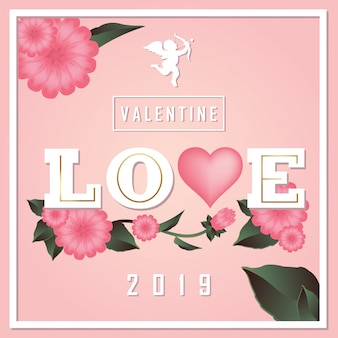 Fond d'illustration vectorielle saint valentin