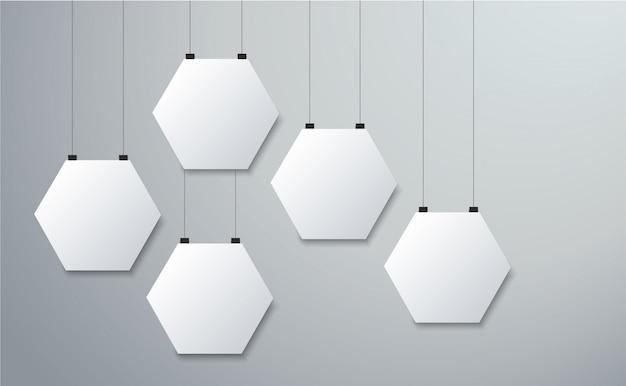 Fond d'image cadre hexagonal