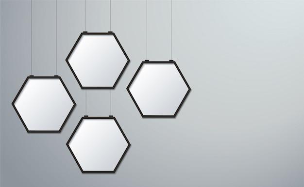 Fond d'image cadre hexagone