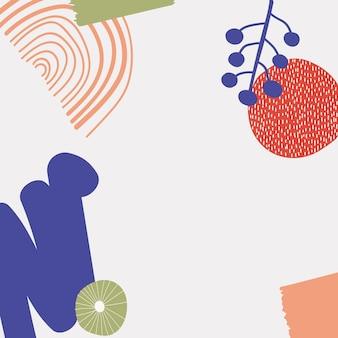 Fond d'impression moderne scandinave en couleur rétro
