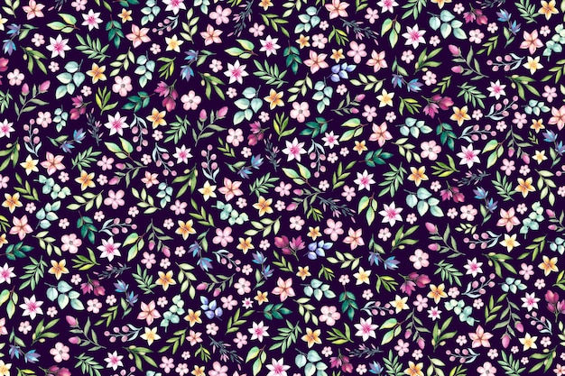 Fond imprimé floral coloré ditsy. fond floral avec petites fleurs.