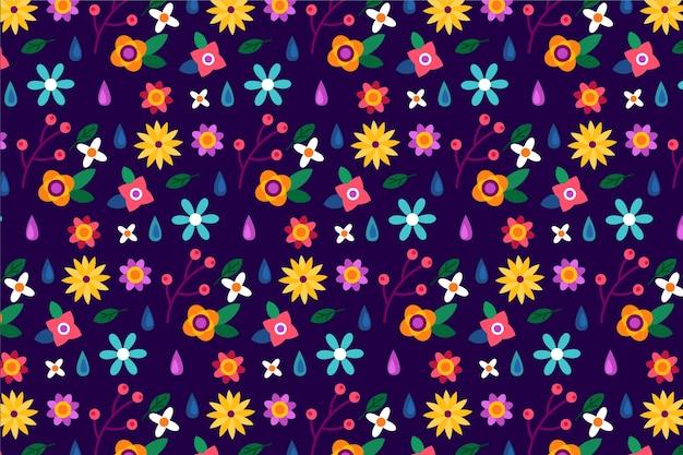 Fond imprimé floral coloré ditsy