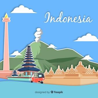 Fond d'indonésie