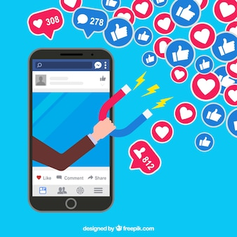 Fond de l'influencer facebook