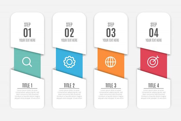 Fond d'infographie moderne d'affaires