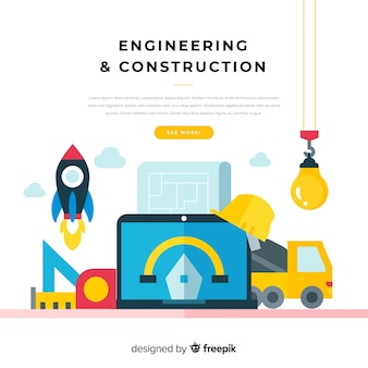 Fond d'ingénierie de construction plate