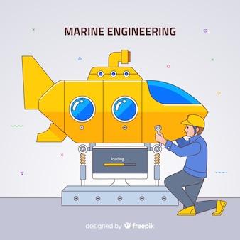 Fond d'ingénierie marine