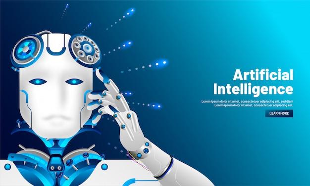 Fond d'intelligence artificielle.