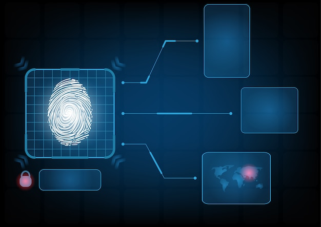 Fond d'interface de sécurité de technologie numérique abstraite