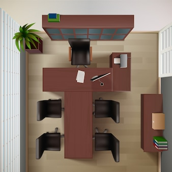 Fond intérieur de bureau