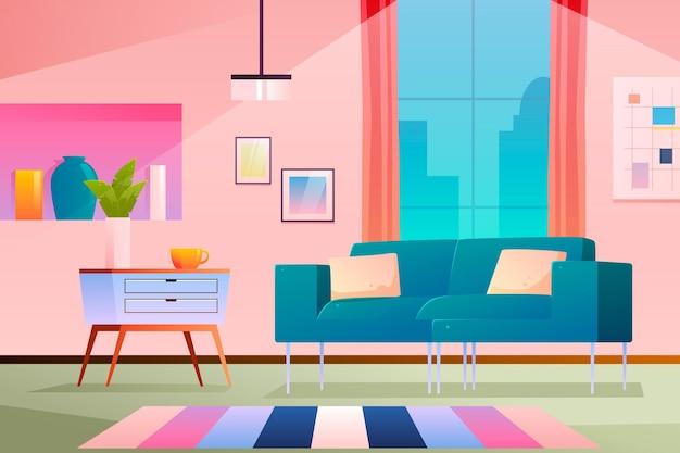 Fond intérieur de la maison pour la vidéoconférence