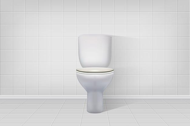 Fond intérieur de toilette réaliste.