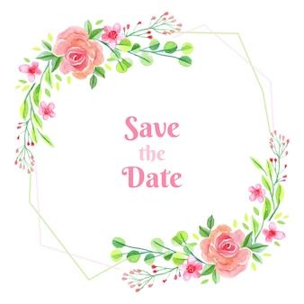 Fond d'invitation cadre rose