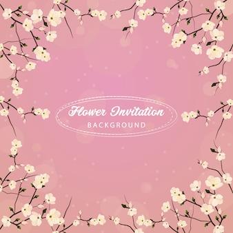 Fond d'invitation de fleur