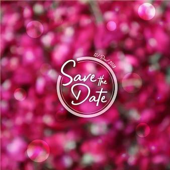 Fond d'invitation de mariage de pétales de rose