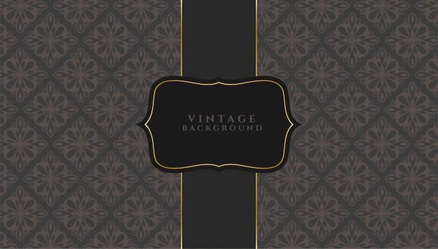 Fond d'invitation de style texture florale vintage