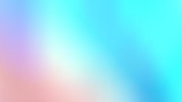 Fond irisé holographique abstrait à la mode. dégradé de vecteur coloré pastel. futurisme rétro. années 80. style vapeur.