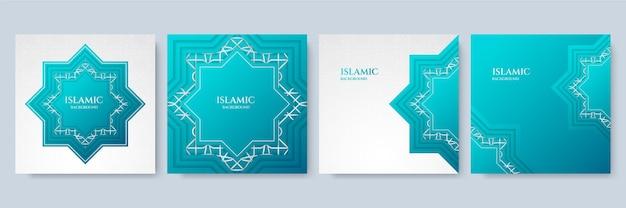 Fond islamique de luxe bleu. mandala élégant avec fond de style oriental islamique arabe royal arabesque dorée