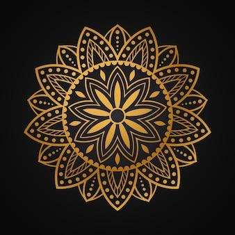 Fond islamique de mandala de luxe