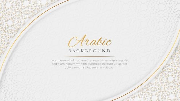 Fond islamique ornemental de luxe élégant arabe avec ornement décoratif de bordure de motif islamique
