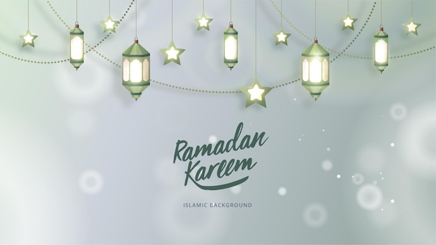 Fond islamique ramadan kareem avec lampe