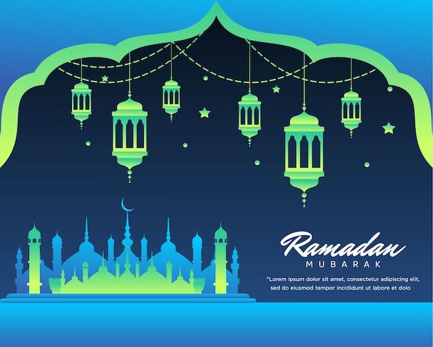 Fond islamique ramadan mubarak
