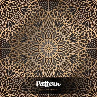Fond Islamique De Vecteur Avec Mandala Vecteur Premium