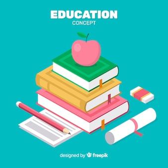 Fond isométrique du concept de l'éducation