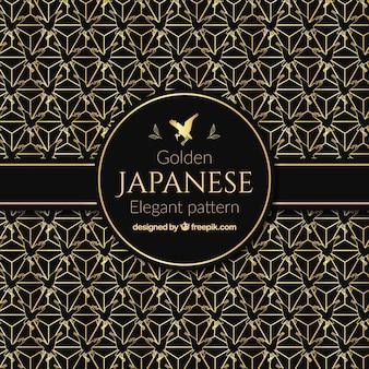 Fond japonais, des formes d'oiseaux