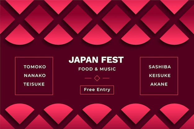 Fond japonais pour des événements