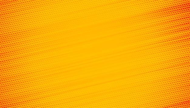 Fond jaune avec conception de lignes de demi-teintes