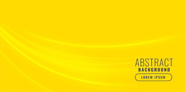 Fond jaune avec un design en forme de vague