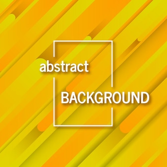 Fond jaune géométrique tendance avec des lignes abstraites. conception de carte. modèle dynamique futuriste. illustration vectorielle