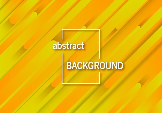 Fond jaune géométrique tendance avec des lignes abstraites. conception de modèle dynamique futuriste. illustration vectorielle