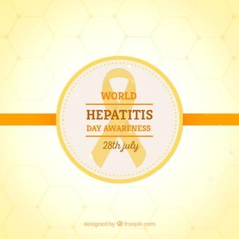 Fond jaune de la journée de l'hépatite monde