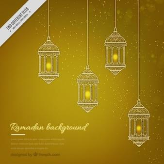 Fond jaune ramadan