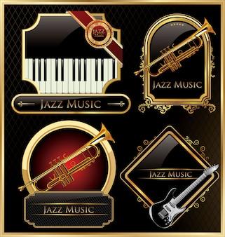 Fond de jazz rétro