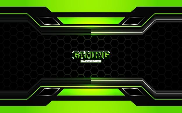 Fond de jeu abstrait noir et vert futuriste