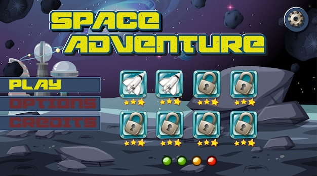 Fond de jeu aventurier de l'espace