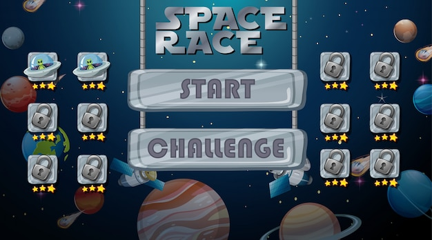 Fond de jeu de course à l'espace