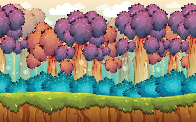 Fond de jeu de forêt