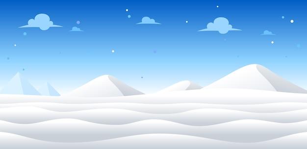 Fond de jeu de jour de neige